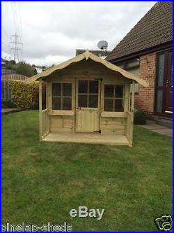 10x6 Childrens Wooden Playhouse Kids Apple Tree Cottage Tanalised T&G Den