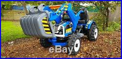 12V Kids Electric Digger Excavator Ride On Tractor Truck Toy Battery Operated