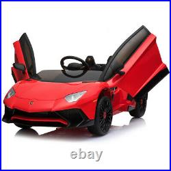 12V Lamborghini Electric Car For Kids Ride On Car With Remote /MusicRed