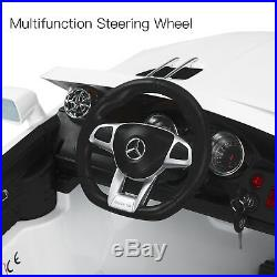 12V Ride on Car Licensed Mercedes-Benz SL65 AMG Kids Electric Cars 3 Speed White