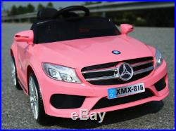 12V Stylish Hot Pink Mercedes Style Kids Electric Ride On Car Parental Remote
