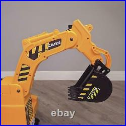12v Electric Digger Kids Electric Ride On Battery Car Kids Ride On Yellow