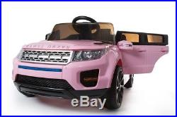 12v Kids Electric Range Rover Evoque Style Ride On Car Jeep Children Pink Sport