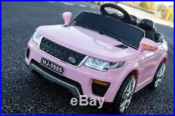 12v Kids Electric Range Rover Sport Style Ride On Car Jeep Children Pink