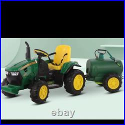 12v Kids Electric Ride On Tractor With Water Tank & Parental Remote Control