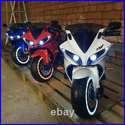 12v Kids Ride On Electric Motorbike with stabilisers. LED, MUSIC, SOUNDS
