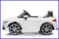 12v Twin Motors Audi Tt Kids Electric Ride On Car Parental Remote Control White