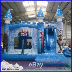16x13x10ft Inflatable Frozen Jumping Bounce House & Slide With Air Blower