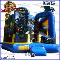 16x16ft Commercial Inflatable Batman Combo Bounce House & Slide With Air Blower