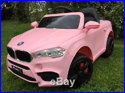 2018 KIDS BMW X5 STYLE RIDE IN ON CAR CHILDS 12v ELECTRIC BATTERY-PINK