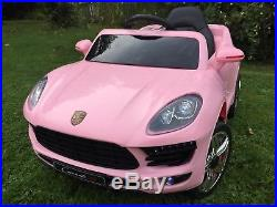 2018 Kids Porsche Cayenne Style 12v Battery Childs Electric Ride On In Car-pink