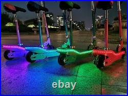 2021 Model Kids Electric Scooter LED 120W Childrens E Scooter Seated Girls Boys