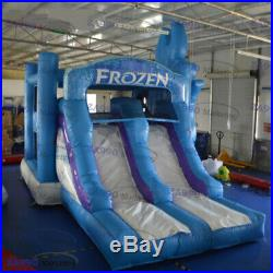 20x13ft Inflatable Frozen Bounce House Bouncy Castle & Slide With Air Blower