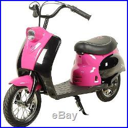 24V Kid's Retro Pocket Mod Electric City Scooter Ride On Motorbike 2 Colours