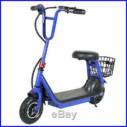 250w 24v Brushless 2-speed Lithium Powered M8 Kids Electric Scooter Blue