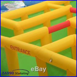 26x26ft Inflatable Maze Bounce Game Obstacle Course With Air Blower