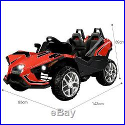 2-Seater 12V Electric Slingshot Truck Kids Ride On Car with Remote Control Red