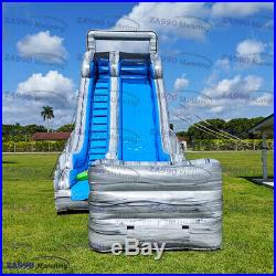 33x13ft Commercial Inflatable Bounce Rapids Water Slide With Air Blower