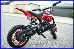 36v 500w Kids Ride On Electric Motor Cycle Red Dirt Pitt Bike Two Wheel Uk Ce