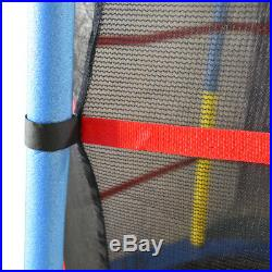 4.5FT 55 Junior Trampoline With Safety Net Enclosure Kids Child Outdoor Toy
