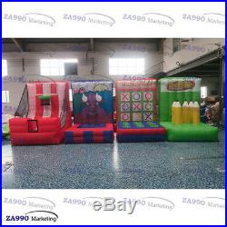 4 IN 1 Interactive Inflatable Outdoor Activities Sports Games With Air Blower