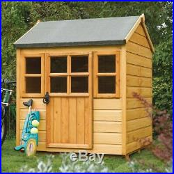 4ft WOODEN CHILDRENS PLAYHOUSE KIDS WOOD GARDEN COTTAGE CHILDS WENDY PLAY HOUSE