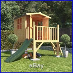 4ft x 4ft Bunny Raised Tower Childrens Wooden Playhouse Kids Cottage Playground