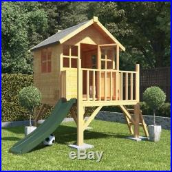 4x4 Bunny Max Raised Tower Childrens Wooden Playhouse Kids Cottage Playground