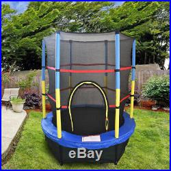 55 Junior Trampoline Set 4.5FT With Safety Net Enclosure Kids Outdoor Toy Blue