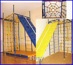 5 pillars with Climbing wall Kid's Indoor Home Gym Playground Set