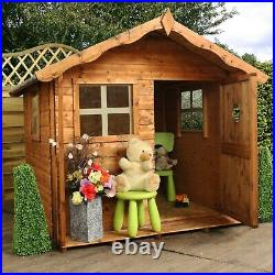 5ft WOODEN WENDY PLAYHOUSE KIDS WOOD GARDEN COTTAGE PLAY HOUSE PLAYGROUND