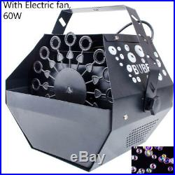60W Electric Bubble Blower Maker Machine Kids Party DJ Disco Club High Output