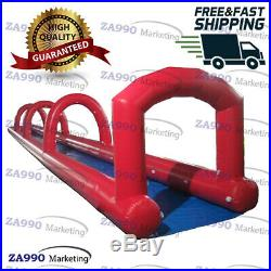 66x6.6ft Inflatable Water Slip N Slide For Kids & Adults With Air Blower
