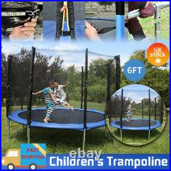 6FT Trampoline With Enclosure Safety Net Heavy Duty Kids Garden Outdoor Play UK