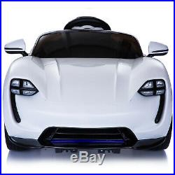 6V Kids Ride On Car Electric Powered Sport Car LED Headlight Remote White