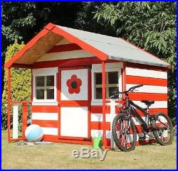 6ft WOODEN WENDY PLAYHOUSE KIDS WOOD GARDEN COTTAGE PLAY HOUSE PLAYGROUND