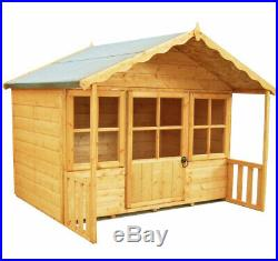 6x4 CHILDRENS WOODEN WENDY PLAYHOUSE KIDS WOOD CANOPY GARDEN WINDOW PLAY HOUSE