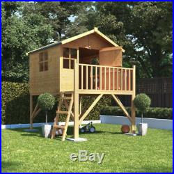 6x5 Tower Wooden Playhouse Children Kids Outdoor Playground Available with Slide