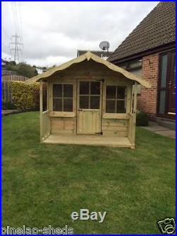 6x6 Childrens Wooden Playhouse Kids Apple Tree Cottage Tanalised T&G Den
