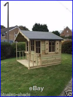 7x6 Childrens Wooden Playhouse Kids Apple Tree Cottage Tanalised T&G Den