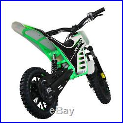 800W Lithium Powered Epicmoto 36V Kids Electric Dirt Bike Green