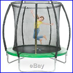 8ft Trampoline Enclosure Safety Net Padded Spring Cover Kids Family Garden Game