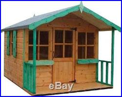 8x6 CHILDRENS WOODEN T&G PLAYHOUSE 8FT X 6FT WENDY HOUSE KIDS OUTDOOR COTTAGE