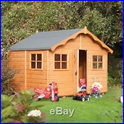 8x7 WOODEN PLAYHOUSE WOOD CHILDRENS DEN KIDS PLAY WENDY HOUSE OUTDOOR CHILDS