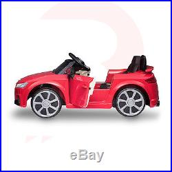 AUDI TT RS Licensed KIds RIde On Car 12V Twin Motor Battery Remote Control Cars