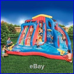 A Pool With A Water Slide For Kids Large Inflatable Splash Backyard Bounce House