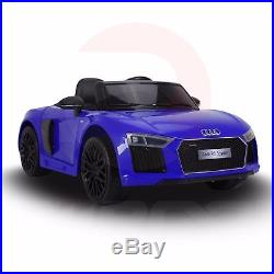 Audi R8 Spyder Super Sports Car Kids Ride On Car 12V Lights Parental Remote, MP3