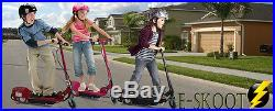 Battery Operated Kids Electric E Scooter Pink Removable Seat Adjustable Height