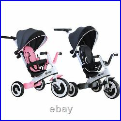 Baby Tricycle Children's 4 In 1 Trikes Kids Stroller With Canopy 3 Wheels