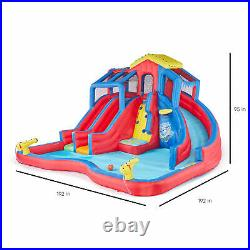 Banzai Hydro Blast Inflatable Play Water Park with Slides and Water Cannons